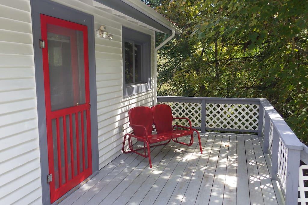 Guest loft front porch.