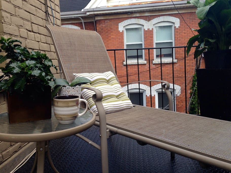 Enjoy access to a rooftop patio with your morning coffee or afternoon sunning
