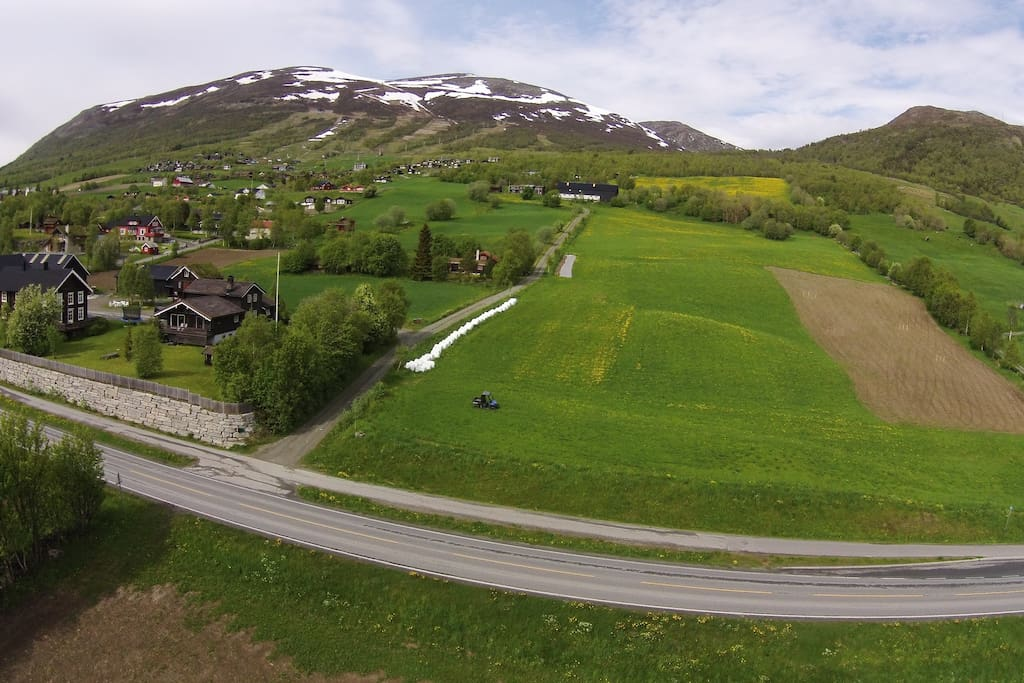 Our farm in the centre of the Picture, 500 m above the main road