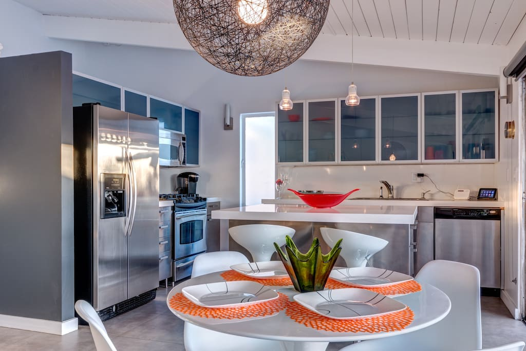 Completely renovated house, with mid-century style.