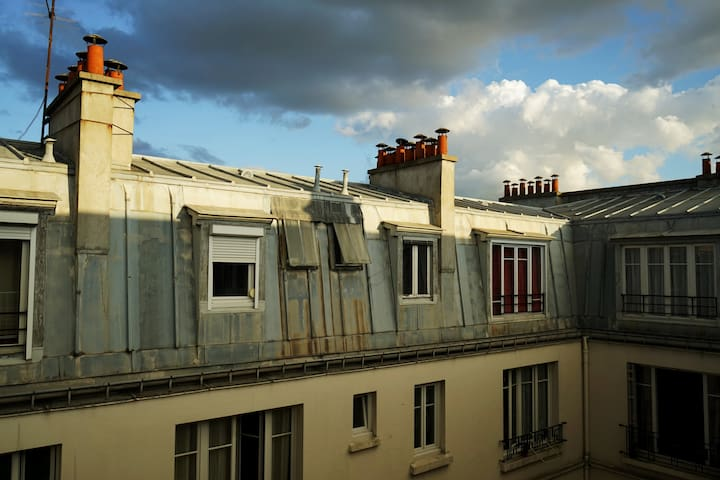 Nice apartment on the roofs of Paris