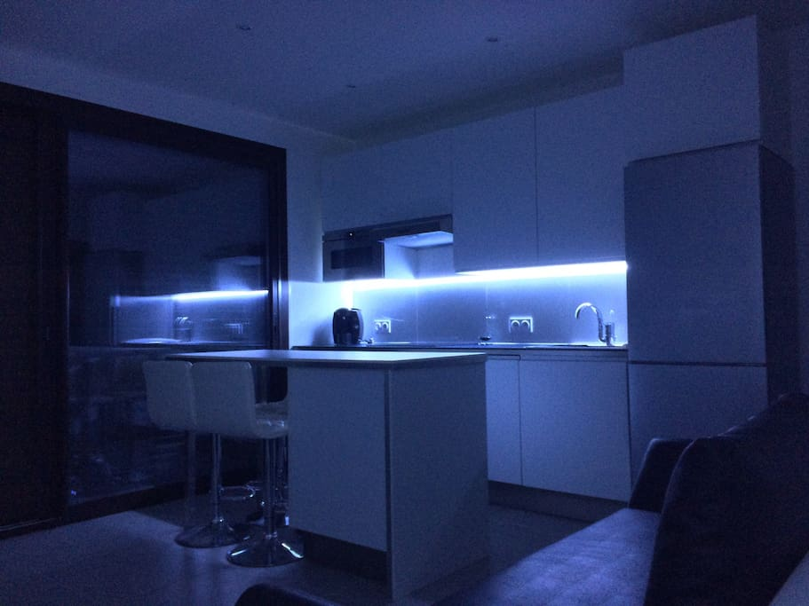 Cuisine avec éclairage led
