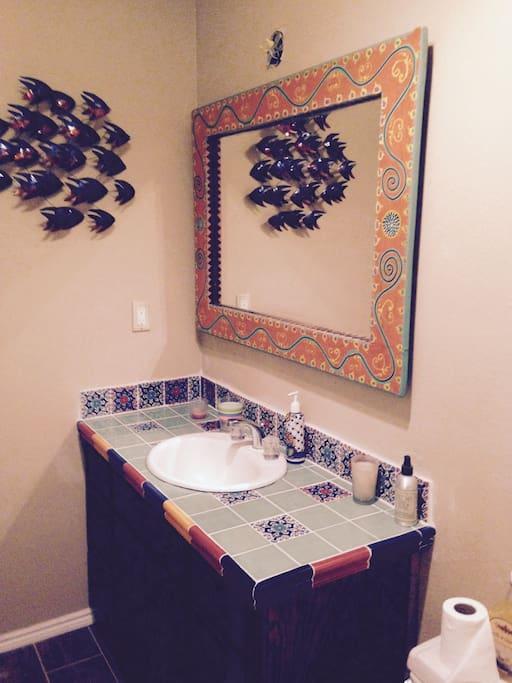 Bathroom newly remodeled