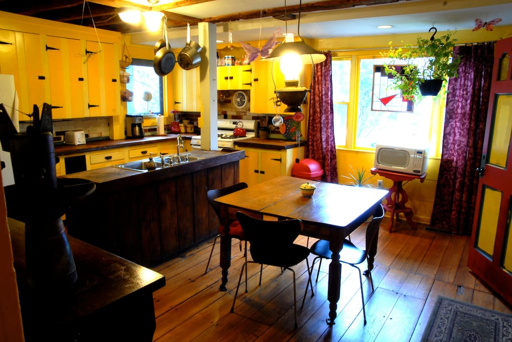 Guests may use the large country kitchen.
