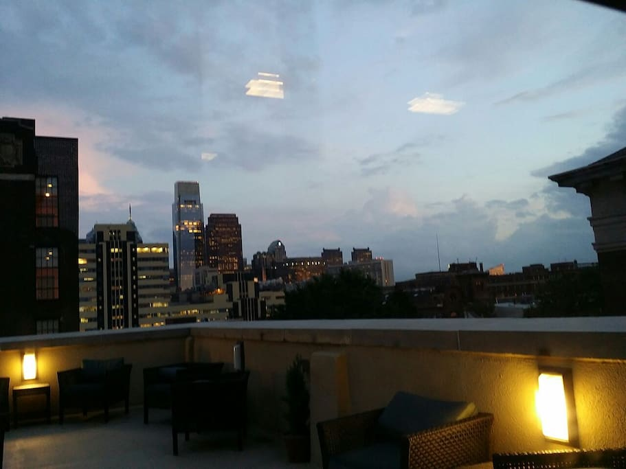 Views from the 5th floor deck.