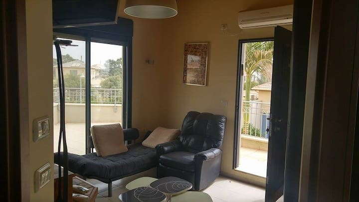 designed apartment inside a Kibbutz