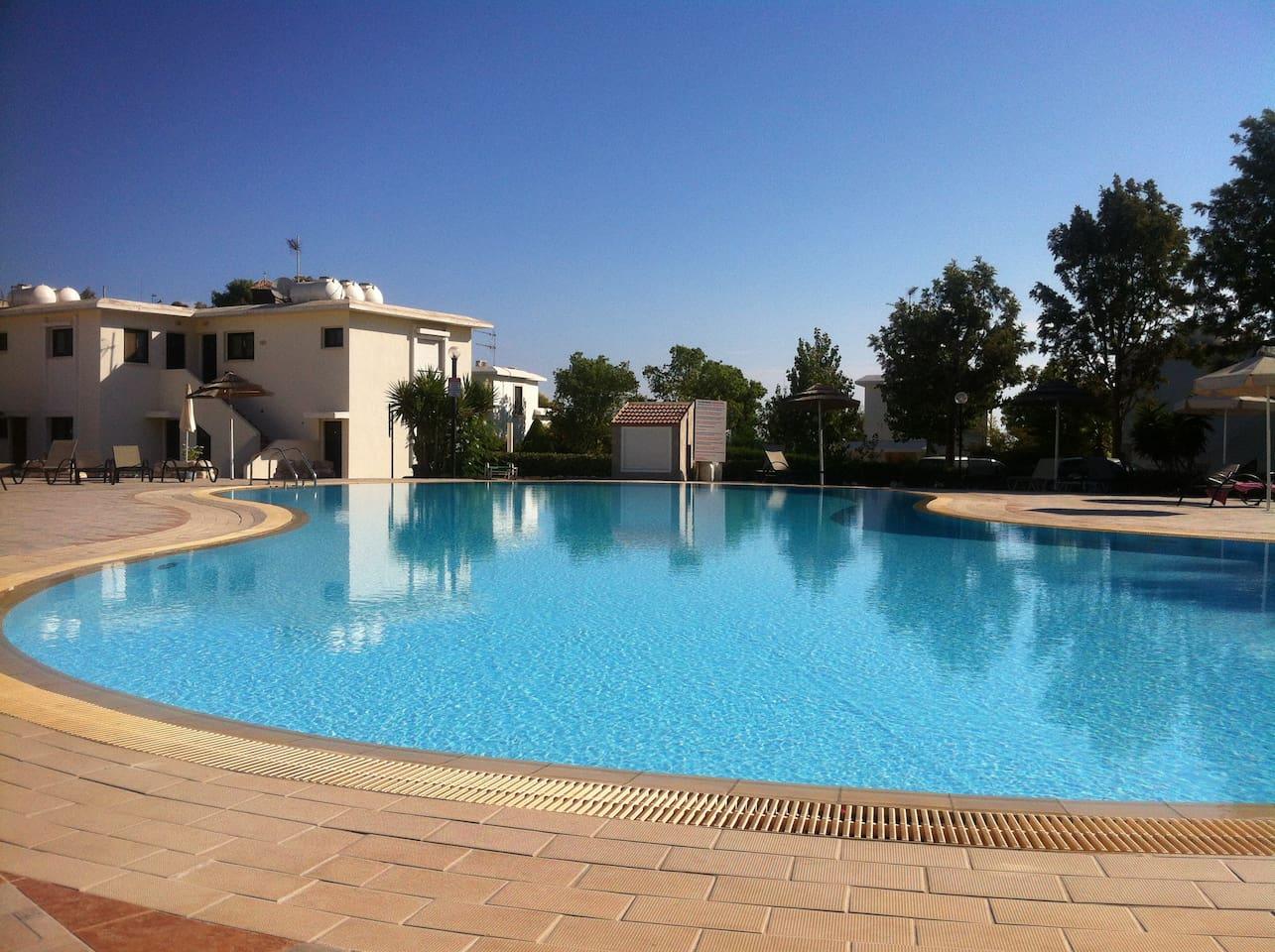 large quiet pool