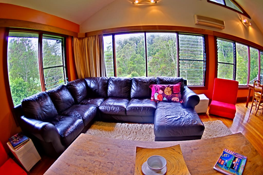 Very very comfortable soft leather lounge