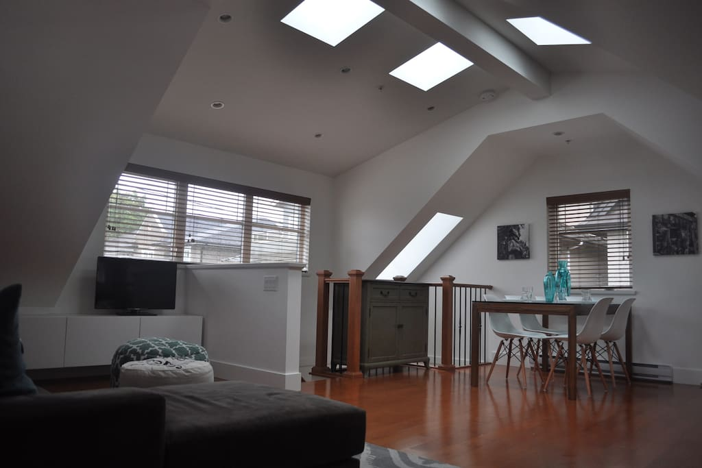 Many skylights provide lots of natural light.