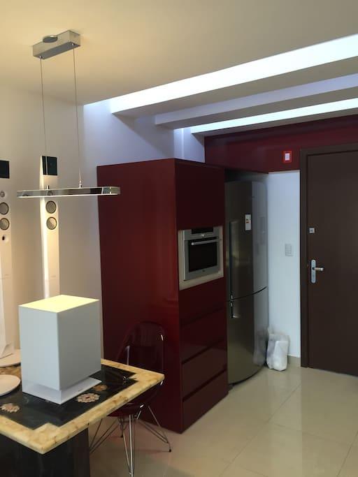 Cozinha geladeira e forno