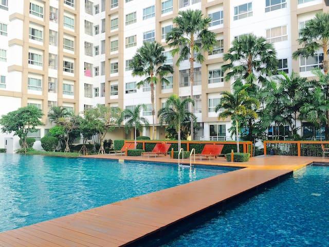1BR1Stepto BTS+WIFI+Netflix+AppleTV - Khlong Ton Sai - Wohnung