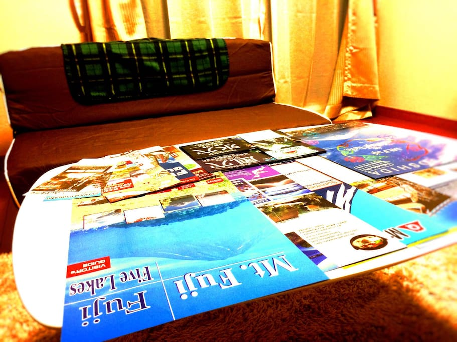 We prepare some brochures in the room. So you can take these one if you want.