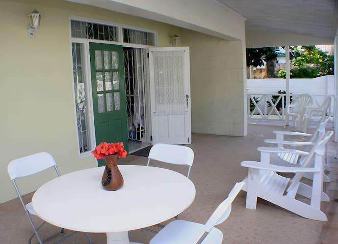 Spacious, airy  verandah.