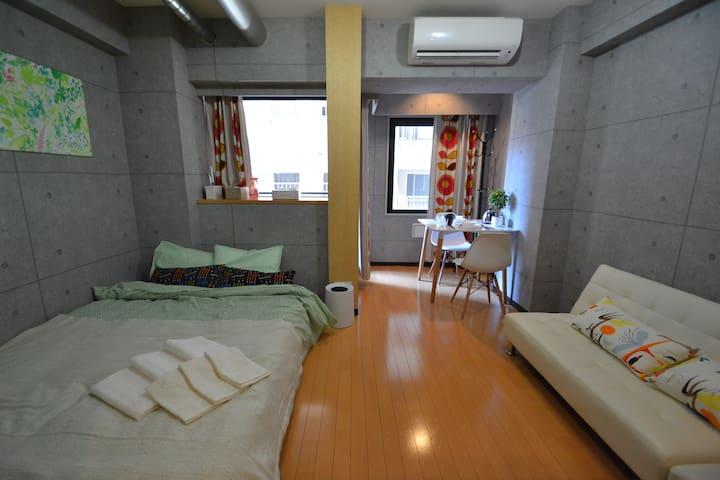 Fashionable Apartment(お洒落空間) 駅徒歩3分 - Shinjuku-ku - Leilighet