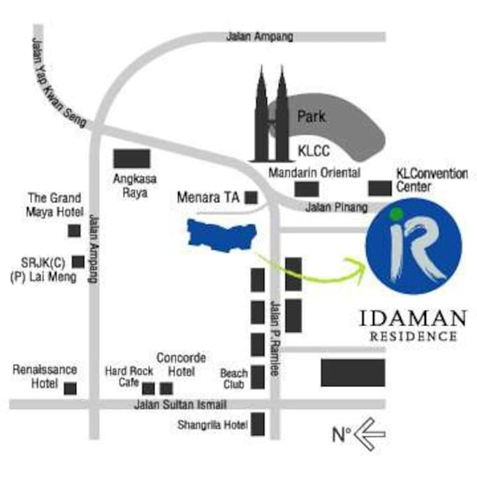 Location to Idaman