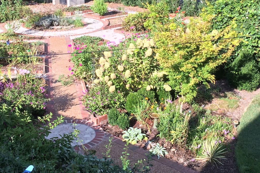 This is the view of the garden from your bedroom window.