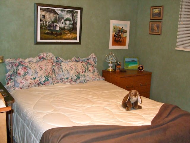 One room, queen bed,  Fort Langley - 蘭利(Langley) - 獨棟