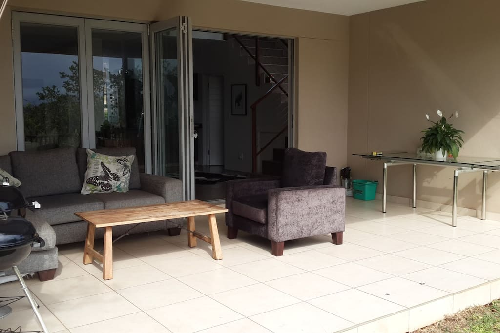 Covered patio and garden perfect for summer time braais.