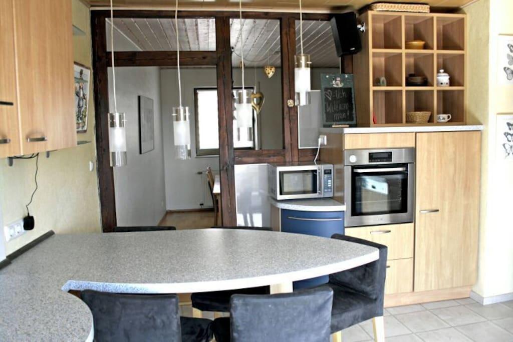 Küche mit ins Wohnzimmer