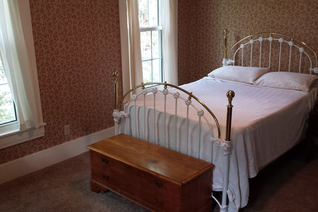 Lots of sunlight fills your room in historic Old Richmond and the memory foam mattress pad will ease you to sleep.