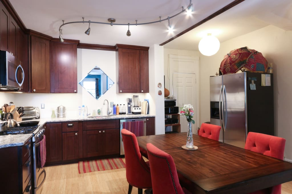 Shared kitchen, fully stocked...
