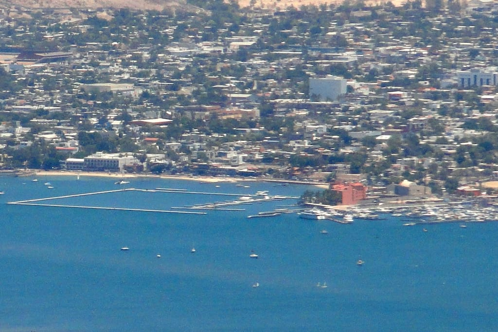 View from the airplane after the construction of the marina