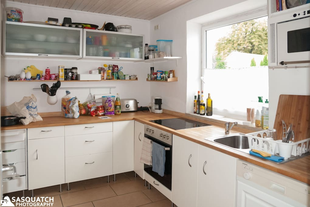 clean, fully equiped kitchen which has everything you need, including a smalll food welcome package