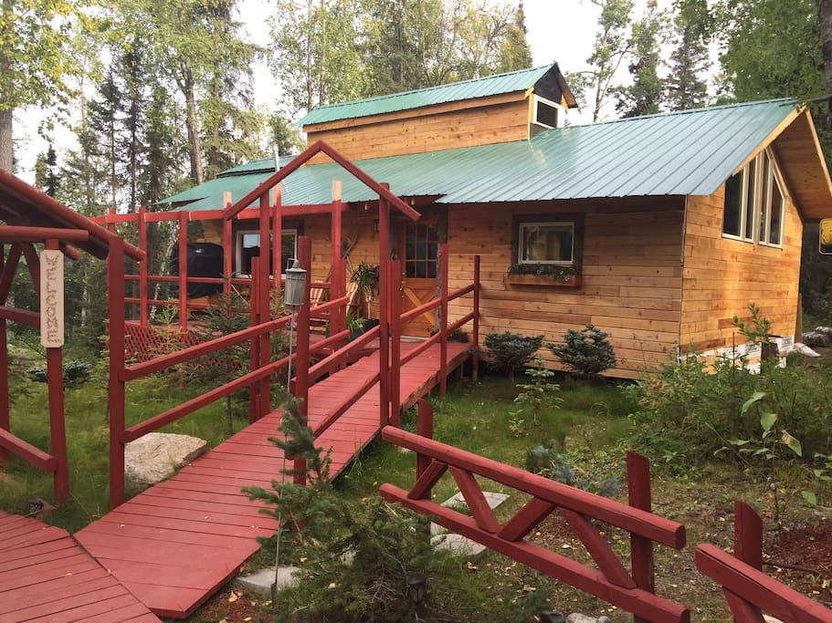"The front entrance  of ""The Retreat"". Alaska State licensed."