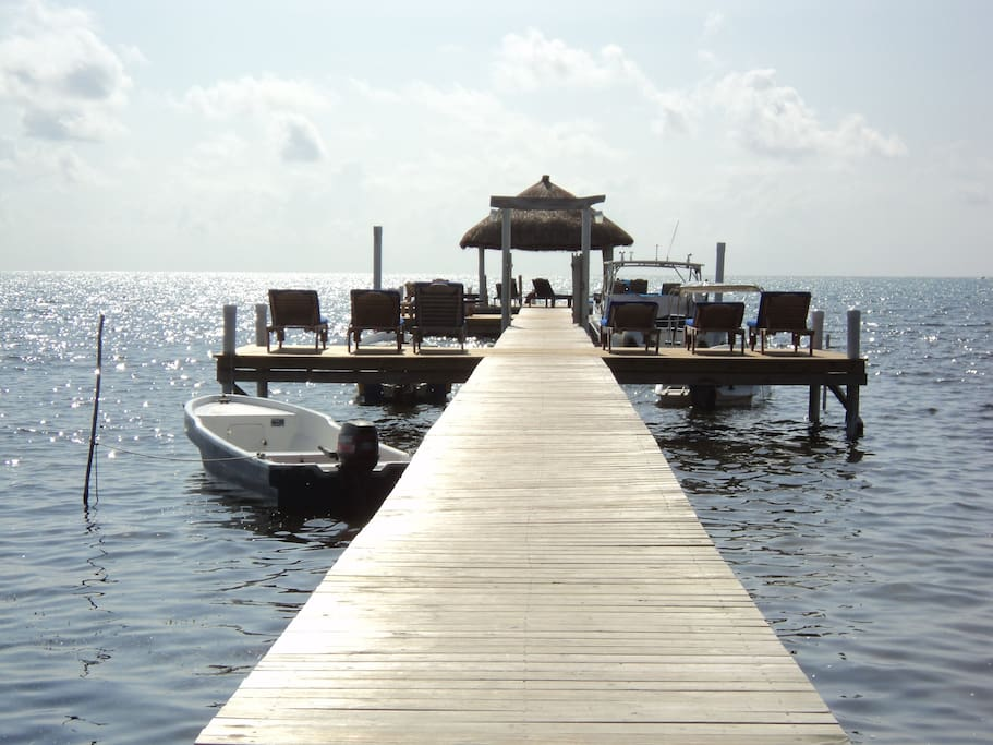 Dock and palapa area, sun or shade while enjoying the breeze.