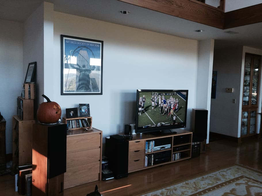 Living room with full entertainment center