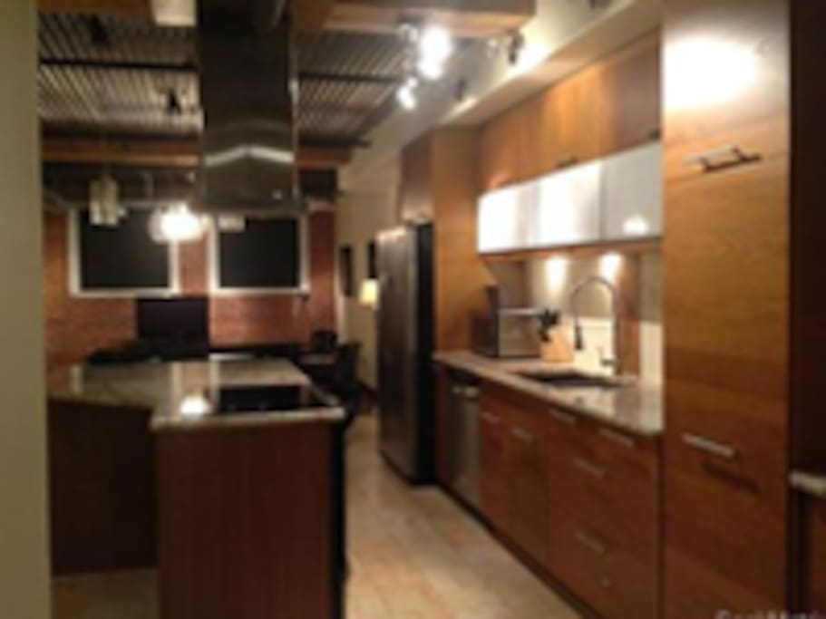 Open concept w/ excellent kitchen