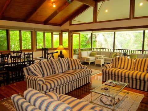Modern home in leafy parkland.  Bedroom 1