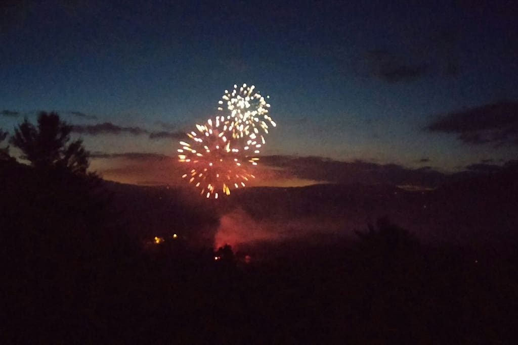 Fireworks a la carte...you don't have to leave home for a great view!