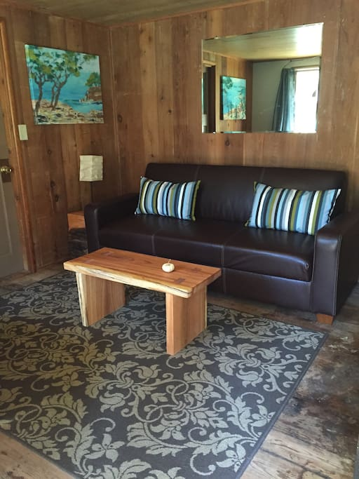 Clicker couch sitting area.