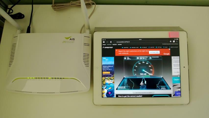 Hi speed internet & Wi-Fi 20Mbps.