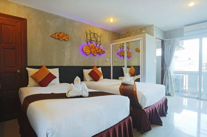 Premier Twin bed Room - Tambon Kammala - Lejlighed