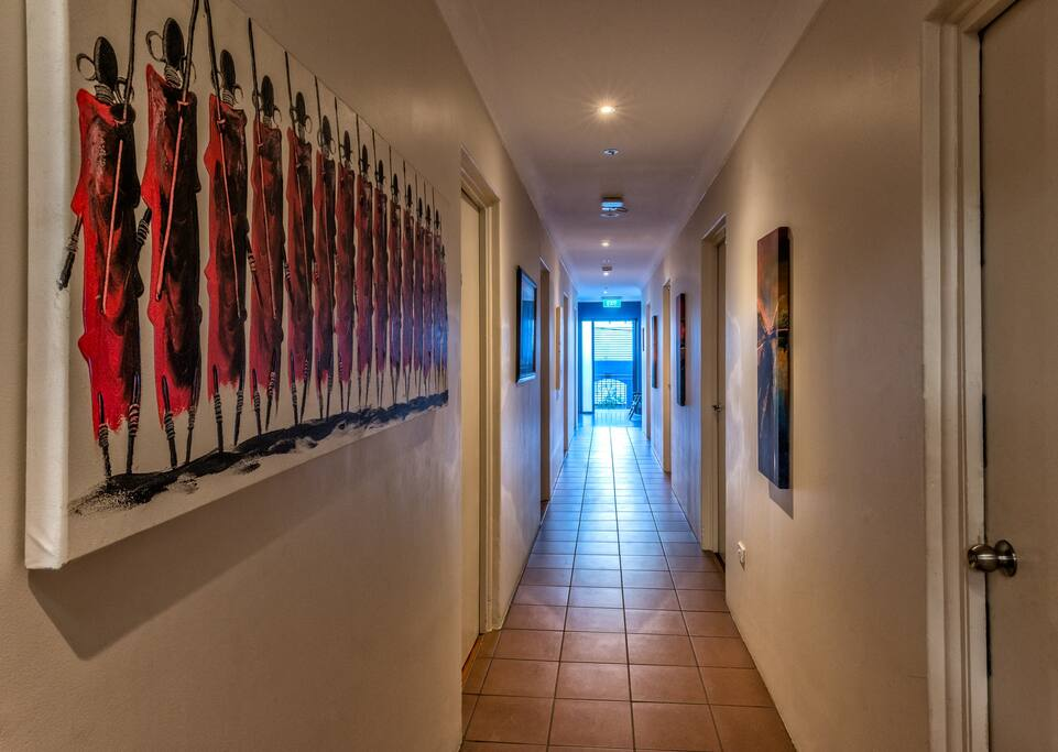 Cool, breezy corridors.