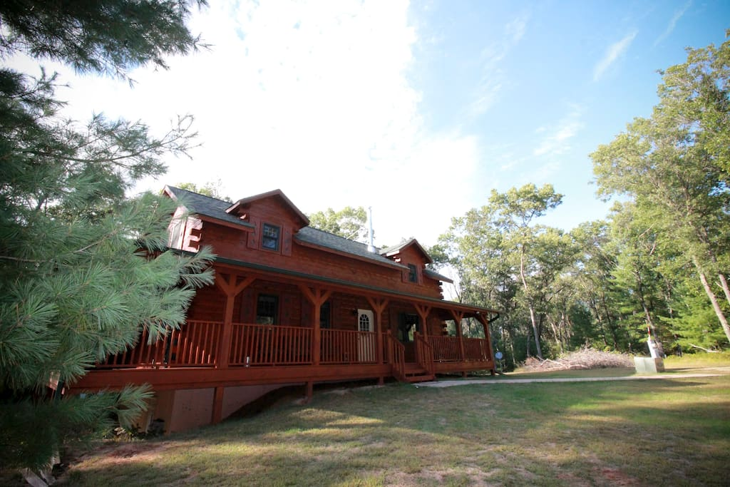 Log Cabin Near Castle Rock Lake Cabins For Rent In New