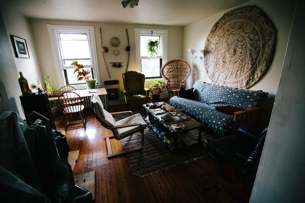 A view of our living room