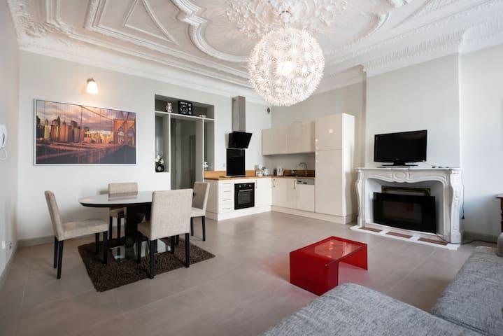 T2 rdc de 56 m2 avec terrasse arborée hyper centre - Rochefort - Apartmen