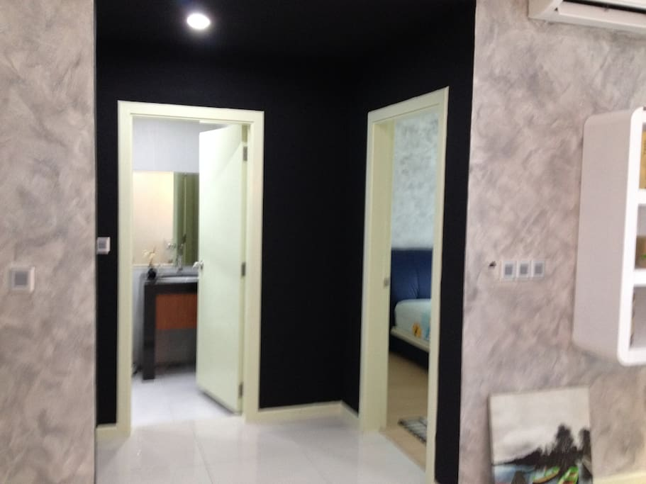 bedroom & washroom