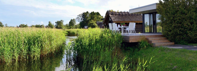 Unique riverside house