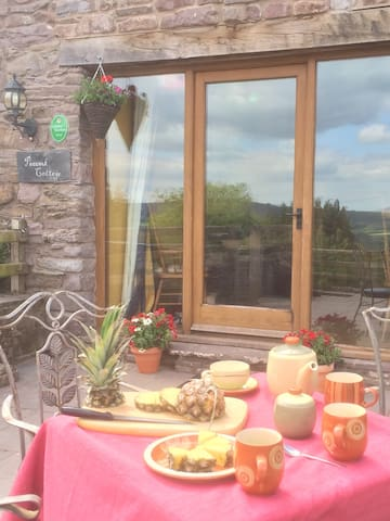 Farm Cottage with 30 Mile View - Talybont-on-Usk - Hus