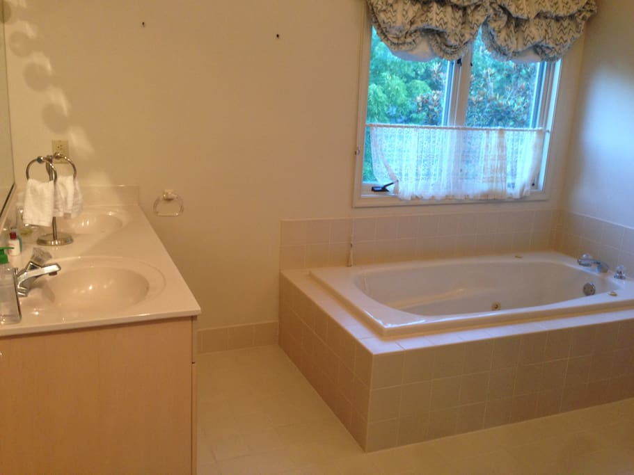 Separate whirlpool tub
