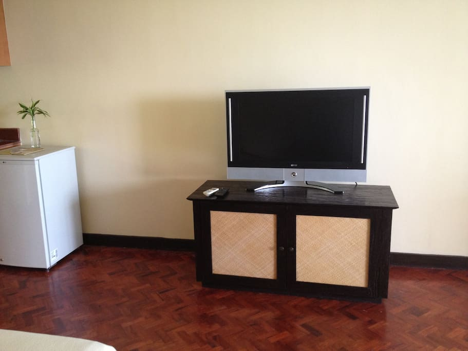 Flat screen cabled TV