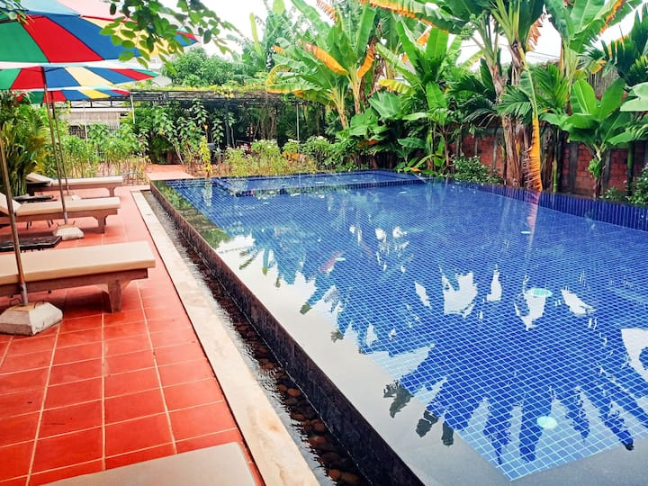 Leafy Poolside Oasis - 2 Bedrooms Siem Reap