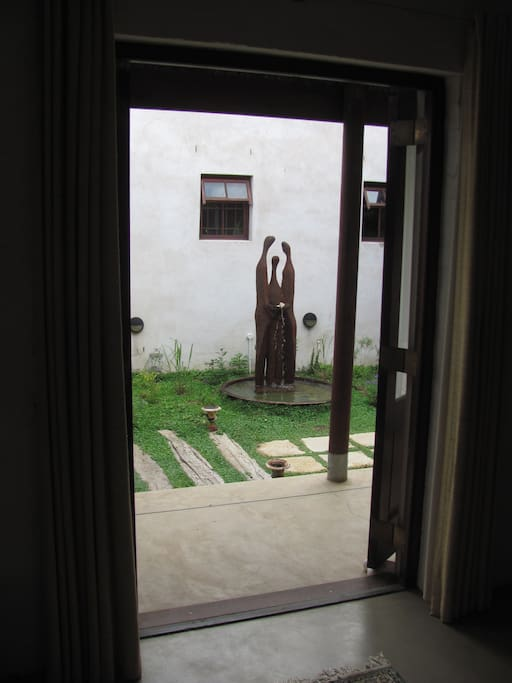 view into courtyard