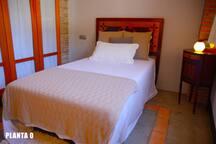 Habitación individual, puede añadirse cama supletoria PLANTA 0