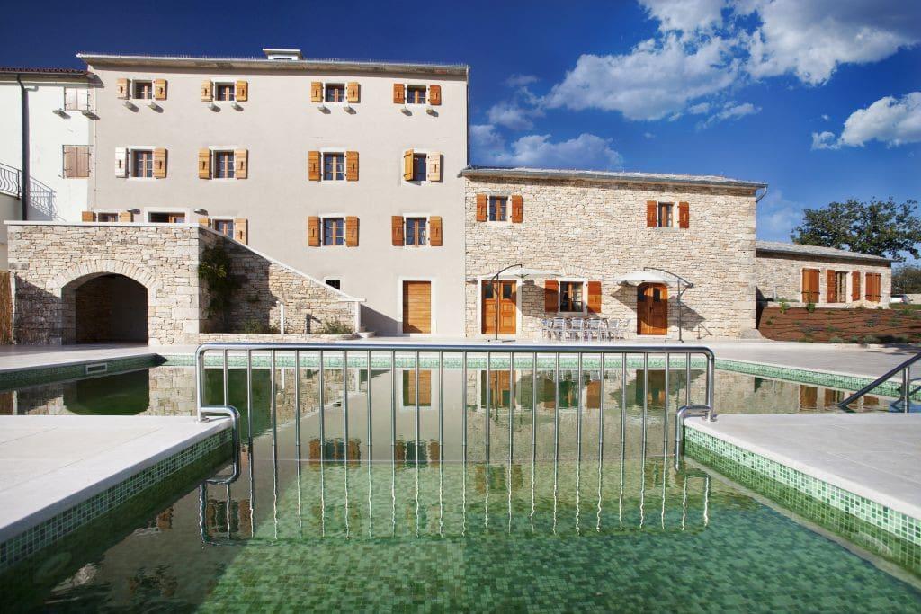 Villa Poropati, Groznjan, Istria - Pool view