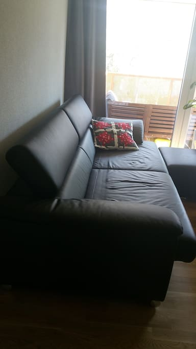 Adjustable couch.